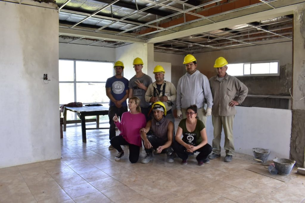 Marisa Fassi visitó la ECCO infantil en Barrio Las Praderas y la Coop. Creer de la Agrupación de Frente CTEP