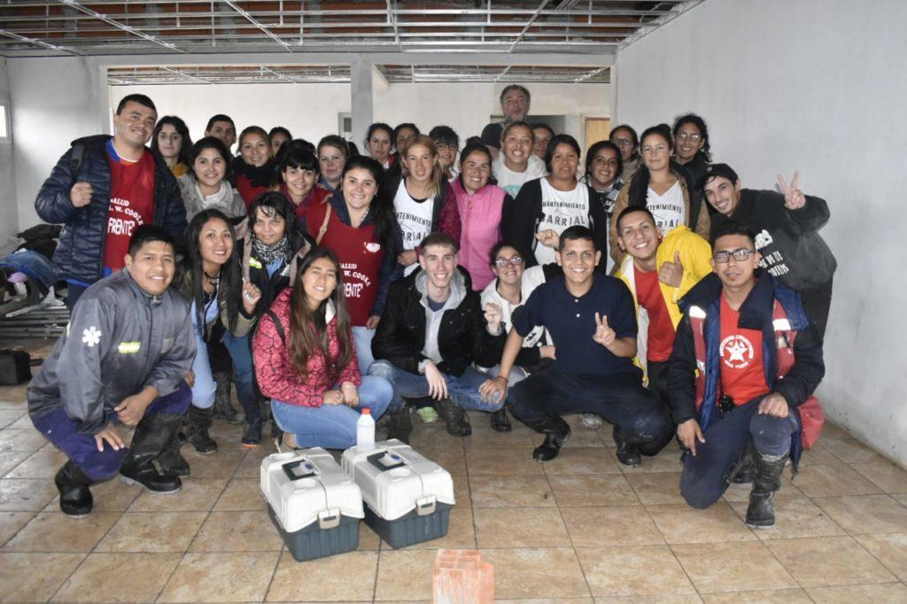 Agrupación de FRENTE junto al MP La Dignidad en auxilio de los vecinos de Máximo Paz