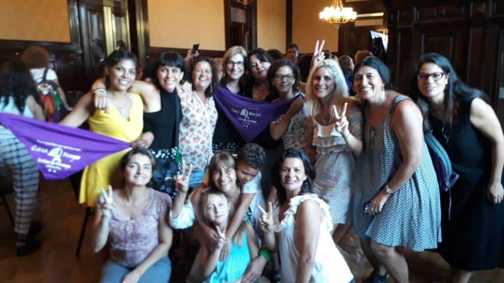 Las compañeras de La Casa de la Mujer «Esther de Careaga» fueron reconocidas, en el marco de «Nosotras Movemos el Mundo»