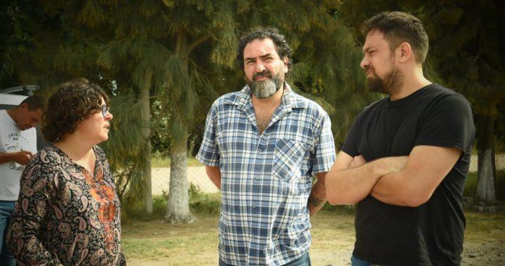 El director de Comercialización Rafael Klejzer visito la feria Itinerante en Máximo Paz y el Peladero